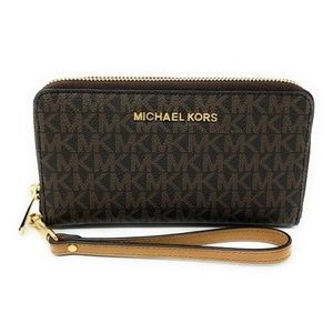 Michael Kors Jet Set Travel Large Wallet Brown